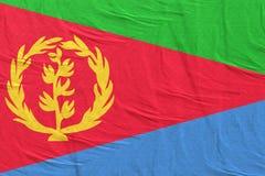 Vinka för Eritrea flagga vektor illustrationer