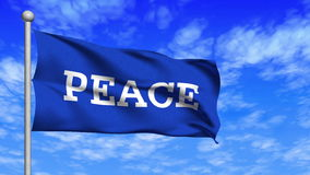 Vinka för fredflaggaögla stock video