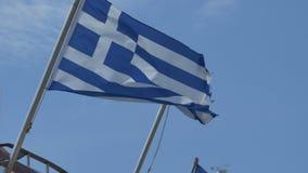 Vinka för Grekland flagga stock video