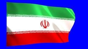 Vinka för Iran flagga vektor illustrationer
