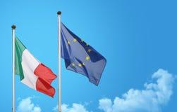 Vinka för Italien Europa flagga arkivbild