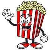 Vinka för popcorn royaltyfri illustrationer
