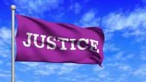 Vinka för rättvisaflaggaögla stock video