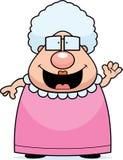 Vinka för tecknad filmmormor royaltyfri illustrationer