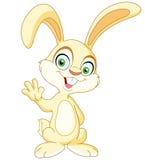Vinka kanin stock illustrationer