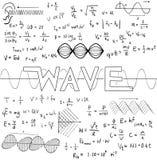 Vinka lag för fysikvetenskapsteorin och equatioen för matematisk formel Royaltyfria Foton
