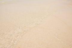 Vinka på strand Arkivbild
