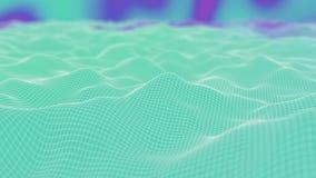 Vinkande bakgrund för Polygonal yttersida Sömlös kretsad rörelsedesign för blå färg 3D framför med bokeh och suddigt vektor illustrationer