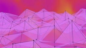 Vinkande bakgrund för Polygonal yttersida Sömlös kretsad rörelsedesign 3d framför royaltyfri illustrationer