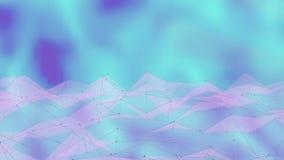 Vinkande bakgrund för Polygonal yttersida Sömlös kretsad rörelsedesign 3d framför stock illustrationer
