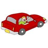 Vinkande farväl för passagerare från bilen royaltyfri illustrationer