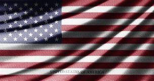 Vinkande flagga av Amerikas förenta stater Royaltyfria Bilder