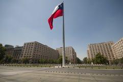 Vinkande flagga av Chile 2 Arkivfoton