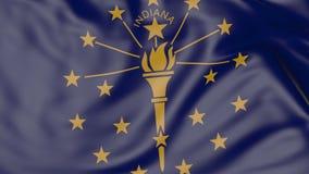 Vinkande flagga av den Indiana staten framförande 3d Arkivfoton