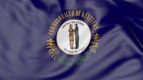 Vinkande flagga av den Kentucky staten framförande 3d Royaltyfria Bilder