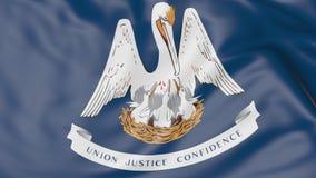 Vinkande flagga av den Louisiana staten framförande 3d Royaltyfria Foton