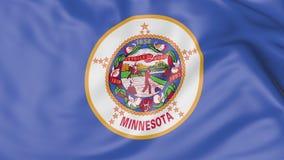 Vinkande flagga av den Minnesota staten framförande 3d Arkivbild