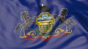 Vinkande flagga av den Pennsylvania staten framförande 3d Royaltyfri Fotografi