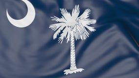 Vinkande flagga av den South Carolina staten framförande 3d Royaltyfri Foto