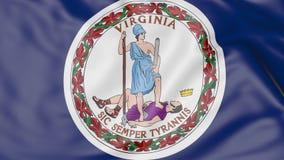Vinkande flagga av det Virginia tillståndet framförande 3d Royaltyfria Foton
