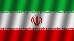 Vinkande flagga av Iran djur footage Bakgrund lager videofilmer