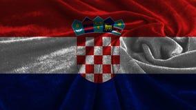 Vinkande flagga av Kroatien Royaltyfria Bilder
