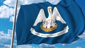 Vinkande flagga av Louisiana vektor illustrationer