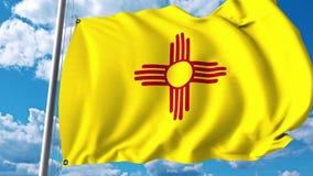 Vinkande flagga av nytt - Mexiko vektor illustrationer