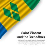 Vinkande flagga av Saint Vincent och Grenadinerna stock illustrationer