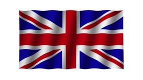 Vinkande flagga av Storbritannien djur footage Bakgrund stock video