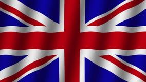 Vinkande flagga av Storbritannien djur footage Bakgrund arkivfilmer