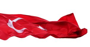 Vinkande flagga av Turkiet Royaltyfri Foto