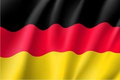 Vinkande flagga av Tyskland Royaltyfria Bilder
