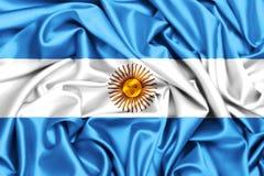 vinkande flagga 3d av Argentina vektor illustrationer