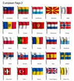 Vinkande flaggor av Europa del 2 Royaltyfri Foto