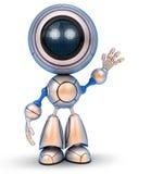 Vinkande hand för robot vektor illustrationer