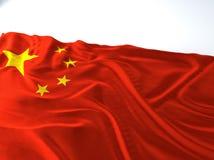 Vinkande Kina flagga Fotografering för Bildbyråer