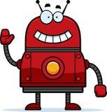 Vinkande röd robot Fotografering för Bildbyråer