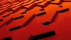 Vinkande slät polygonal yttersida, dator frambragd modern abstrakt bakgrund, 3d framför lager videofilmer