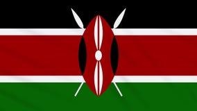 Vinkande torkduk för Kenya flagga, bakgrundsögla stock illustrationer