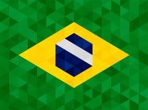 Vinkande tygflagga av Brasilien Royaltyfria Bilder