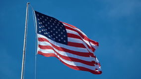Vinkande USA flagga stock video