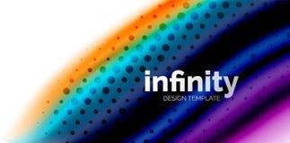Vinkar fluid färger för vektorn 3d bakgrund, flödande abstrakt form med prickig textur, vätskeblandade färger Royaltyfri Foto