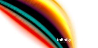 Vinkar fluid färger för vektorn 3d bakgrund, flödande abstrakt form med prickig textur, vätskeblandade färger Fotografering för Bildbyråer