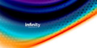 Vinkar fluid färger för vektorn 3d bakgrund, flödande abstrakt form med prickig textur, vätskeblandade färger Royaltyfri Fotografi