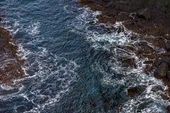 Vinkar Norrkusten av Island Arkivfoto