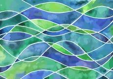 Vinkar vattenfärgbakgrunder Royaltyfria Bilder