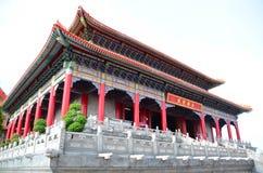 Vinkel av den kinesiska templet royaltyfri bild