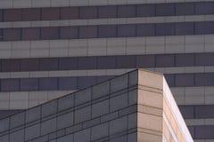 vinkelformig byggnad arkivbild