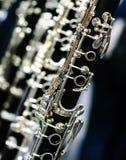 Vinkelformig klarinett Arkivfoto